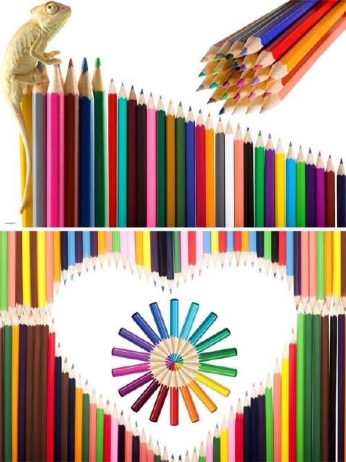 Фотосток: канцелярские принадлежности - цветные карандаши