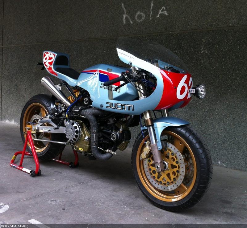 Кастом Radical Ducati Pantahstica на базе Cagiva Alazzurra 350