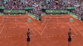 [Теннис] Roland Garros 2012. Финал. Сара Эррани (Италия) - Мария Шарапова (Россия) в 3Д / Final. Errani - Sharapova. 3D  Горизонтальная анаморфная